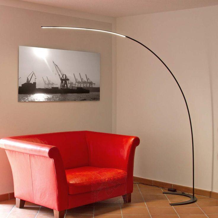 Buet LED-stålampe Danua i svart-9620140-30