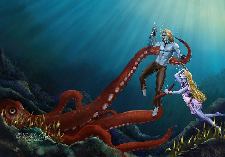 Lightning Lake Fantasy Cover art | Nicole Cadet Fantasy Art