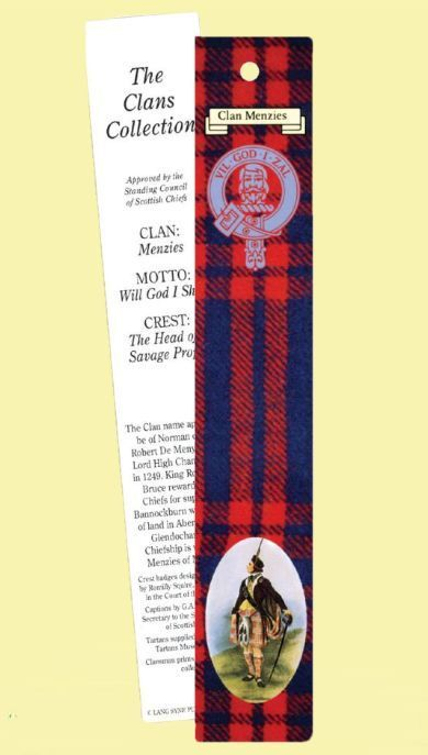 For Everything Genealogy - Menzies Clan Tartan Menzies History Bookmarks Set of 2, $3.00 (http://www.foreverythinggenealogy.com.au/menzies-clan-tartan-menzies-history-bookmarks-set-of-2/)
