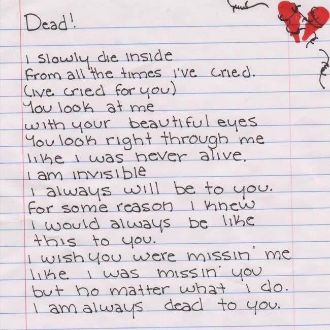 sad break up letters
