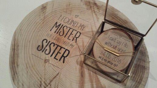 Originele manier om je zus als getuige te vragen