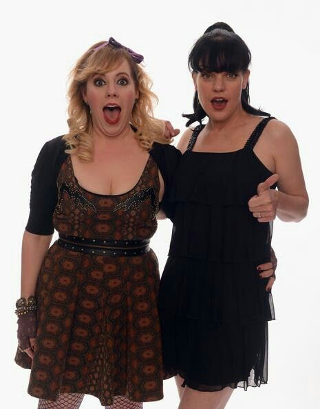 NCIS's Abby Scuito Criminal Minds' Penelope Garcia: best two science nerds in crime scene history (PS, imagine a Girls' Night that included these two!)