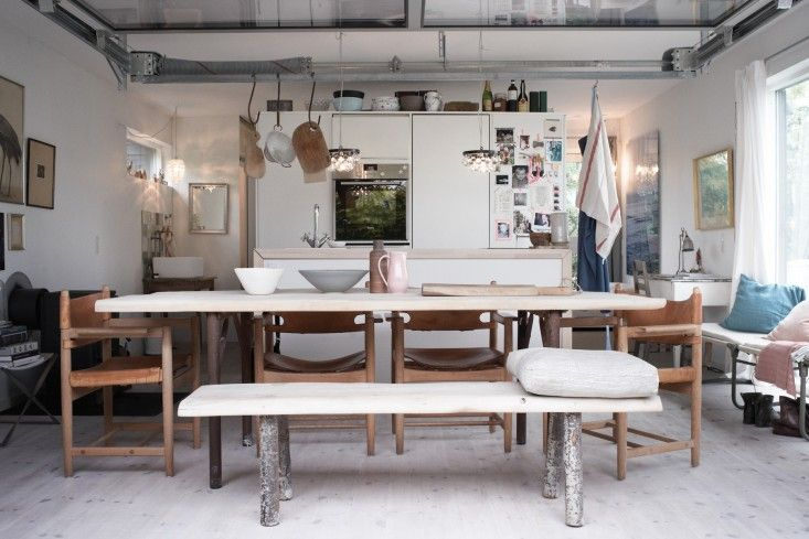 Long Narrow Dining Table - Inspired Home Ditte Isager Danish house | Remodelista