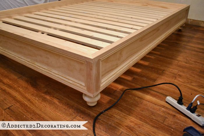 How to make a raised platform bed frame