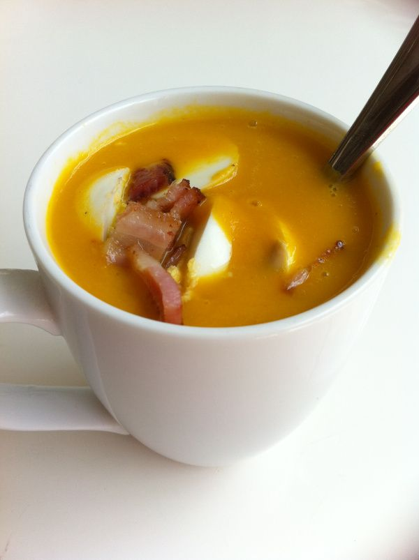 This carrot soup looks delicious. Yes, even for breakfast!