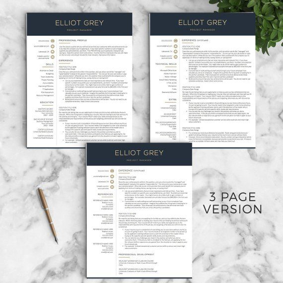 Beat the competition with this Modern Resume Template for Word