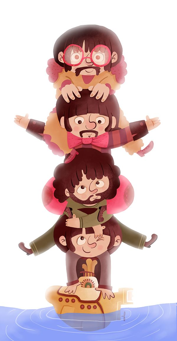 The Beatles - As divertidas ilustrações de Paula Resende - IDEAGRID.com.br