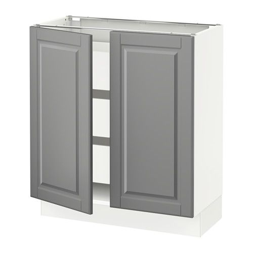 "SEKTION Base cabinet w/2 doors & 3 drawers - white, Ma, Bodbyn gray, 30x15x30 "" - IKEA"