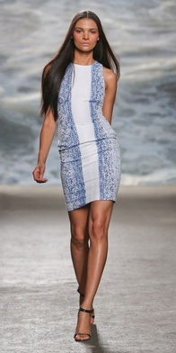 MADILYN: This beautifully crafted dress is woven from both white and blue tweed to create an ombre effect on this racerback fitted dress. Effortless and beautiful, you are sure to be the talk of the party in this dress.  $1795