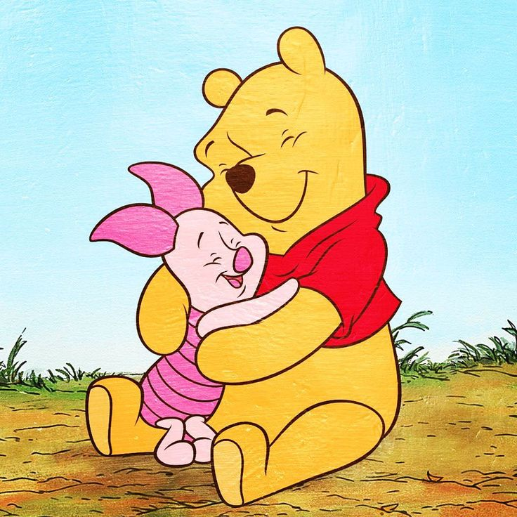 Show your love like Winnie the Pooh and give your bestie a hug!