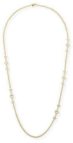 Legend Amrapali Nalika Lotus Station Necklace with White Topaz & Diamonds, 36