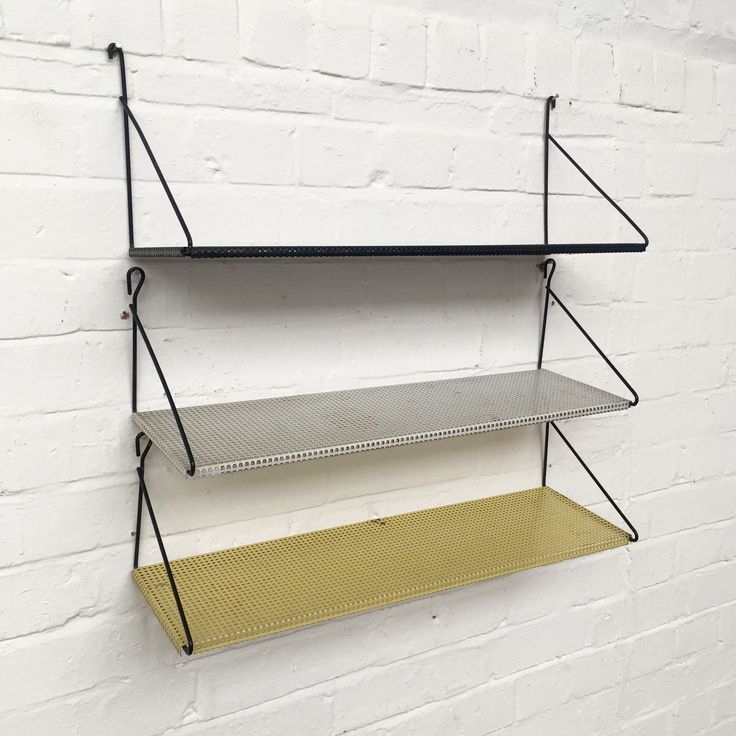 Pilastro Perforated Multicoloured Shelves Netherlands 1960s