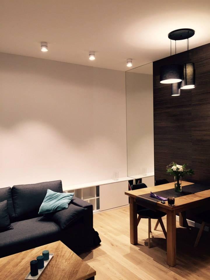Mieszkanie prywatne w Lublinie #dom #wnętrze #salon #biel #misticlighting