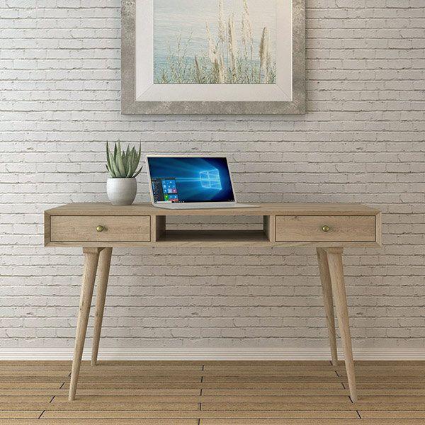 Дизайнерский письменный стол стиле ретро Jordan. Артикул: D001. Размеры ДхШхВ: 135x60x75 см. Материал: дуб. Цвет: натуральный дуб