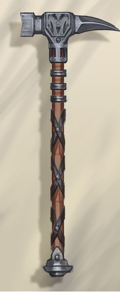 warhammers weapons | Steel War Hammer concept art from The Elder Scrolls V: Skyrim by Adam ...