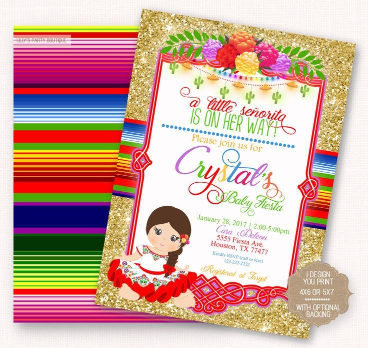 Lovely Fiesta, Baby Shower Fiesta Mexican Baby Fiesta Invite, Mexican Baby Shower  Invite  YOU PRINT