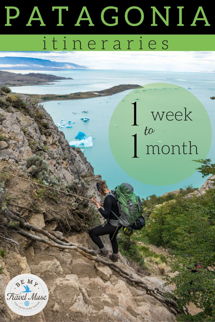 Here's the perfect Patagonia itinerary for whether you have one week, two weeks, one month, or longer in Patagonia. Tons of pics and helpful planning tips!
