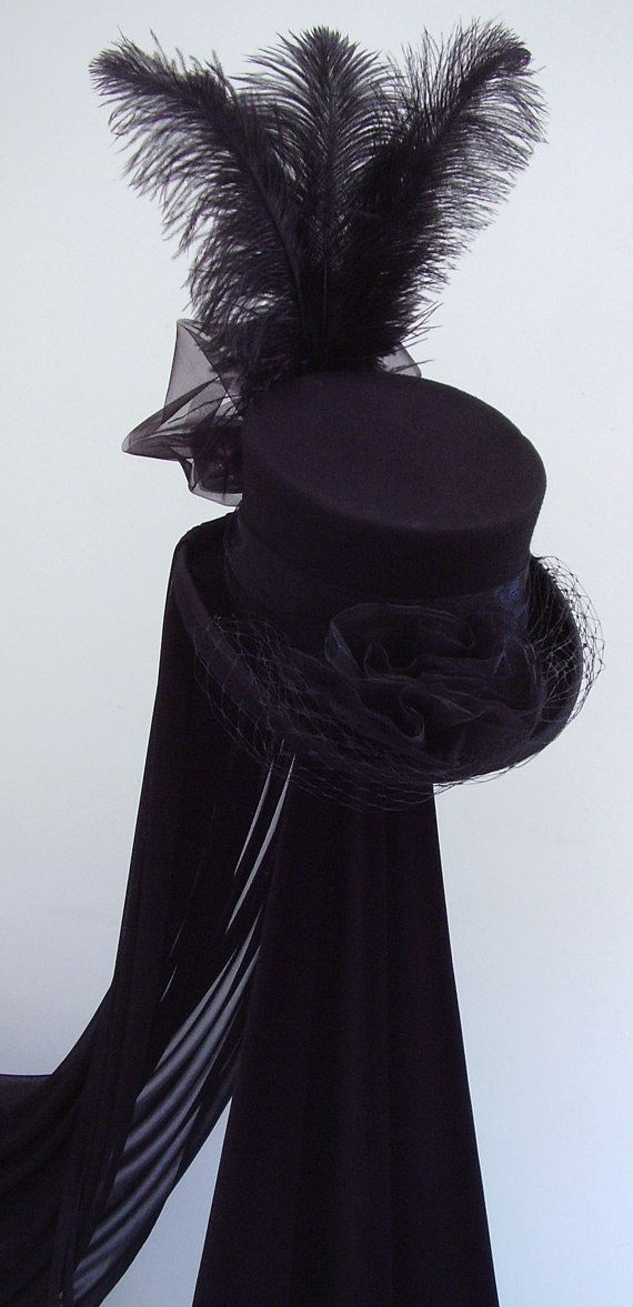 Neo Victorian riding hat The Lady Merrydeath by Blackpin on Etsy