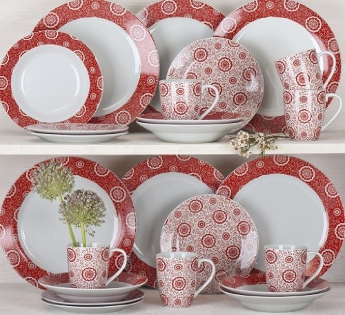 24 Piece Kensington Red Dinner Set *FREE DELIVERY* by Waterside Fine China  & 35 best China u0026 Ceramic: Red images on Pinterest | Dish sets High ...