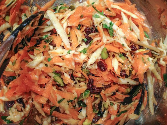 moroccan carrot and parsnip salad