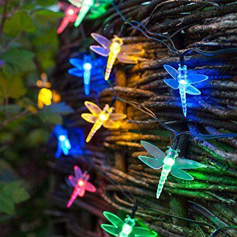 30er LED Solar Lichterkette Libelle Bunt Lights4fun   Solarleuchten Garten  Solarleuchte Solarleuchten Basteln Solarleuchten Balkon Solarlampen