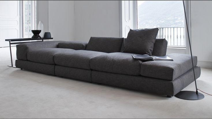 835 Evosuite divano componibile reclinabile in tessuto/pelle - Vibieffe