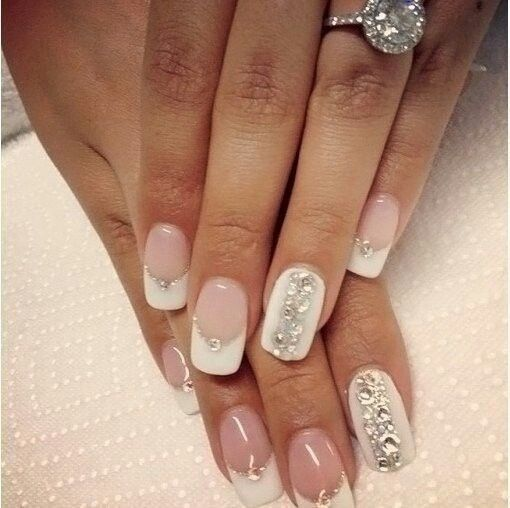 French manicure bridal