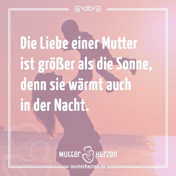 Mehr schöne Sprüche auf: www.mutterherzen.de #liebe #mutterliebe #sonne #sonnenschein #nacht #wärme