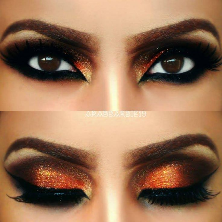 Cool orange eyeshadow Mais