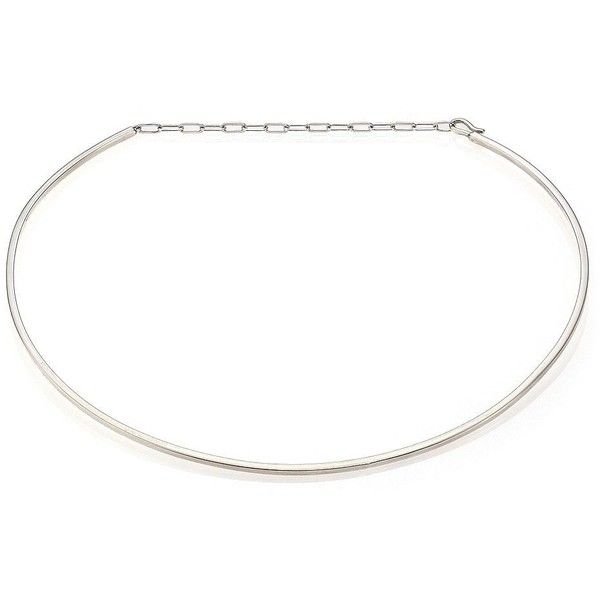 Jennifer Zeuner Jewelry Kerry Sterling Silver Choker Necklace ($230) ❤ liked on Polyvore featuring jewelry, necklaces, apparel & accessories, silver, jennifer zeuner, collar jewelry, collar necklace, choker necklace and collar choker
