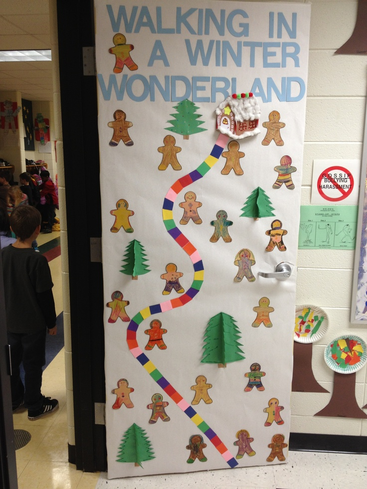 Winter Decorations For Preschool Classroom ~ Best christmas teacher doors images on pinterest