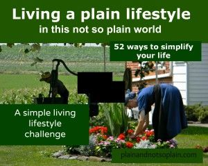 Why I decided not to become Amish and a simple living lifestyle challenge