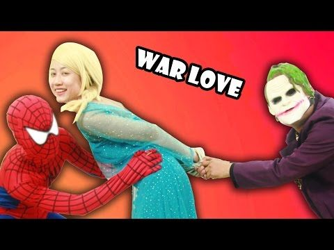 Elsa Loved Joker - Spiderman Fought With Joker - Elsa and Spiderman, Hulk and Barbie Played Sports - YouTube