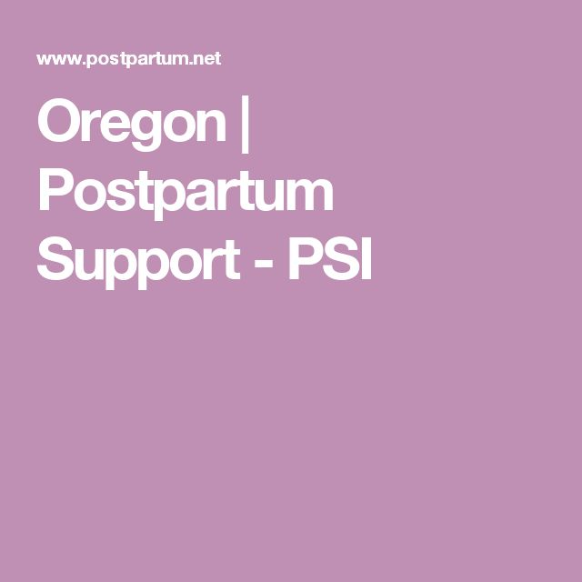 Oregon | Postpartum Support - PSI