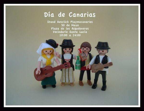 En esta exposición Playmobil del Día de Canarias podrás ver dioramas sobre los guanches que habitaban las islas y recreaciones en versión click de estatuas