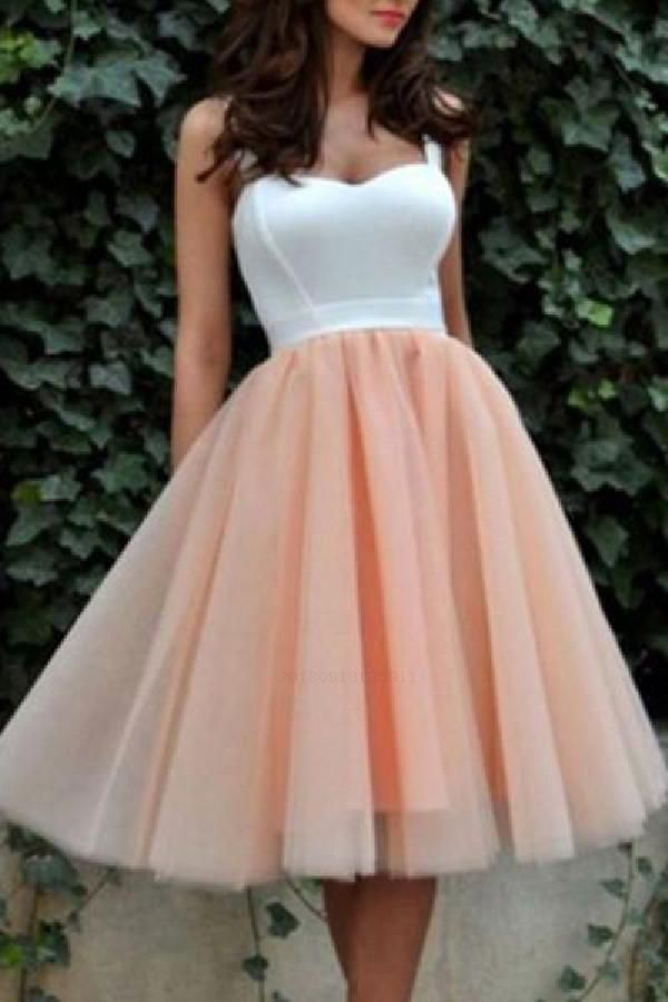 Cheap Substantial Wedding Dresses White, Party Dress Pink, Short Wedding Dresses, 2019 Wedding Dresses