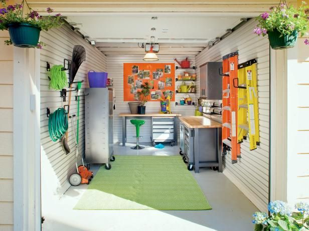 DIY Network Shows You How A Cluttered Garage Can Be Transformed Into A  Multifunctional Space.