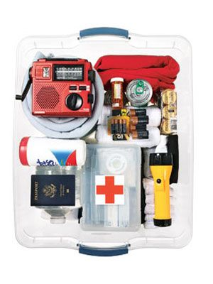 Pull together this portable emergency package with enough food and supplies for three days