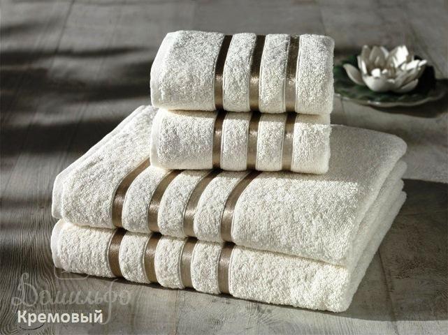 Набор полотенец BALE кремовый от Karna (Турция) - купить по низкой цене в интернет магазине Домильфо