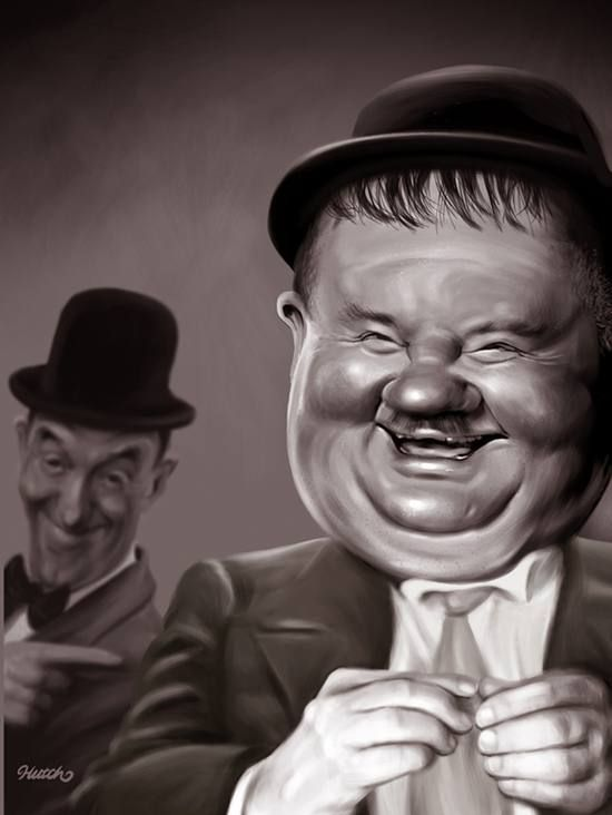 Laurel and Hardy It reminds me of myself and an old work colleague