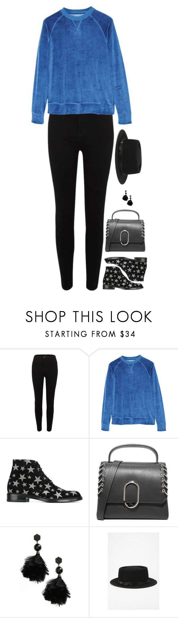 """""""Untitled #10019"""" by miki006 ❤ liked on Polyvore featuring River Island, MANGO, Yves Saint Laurent, 3.1 Phillip Lim, Tory Burch and Deena & Ozzy"""