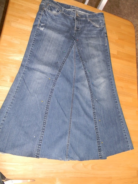 Jeans To Skirt Tutorial 12