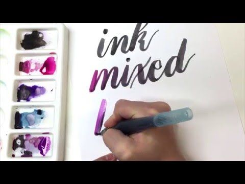 How to Blend Ink and Watercolor for Brush Calligraphy | Hello Brio Studio