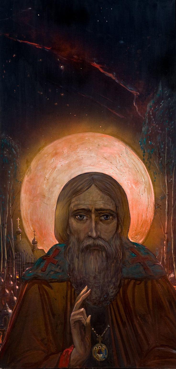 Sergius of Radonezh by Ilya Glazunov, 1990.