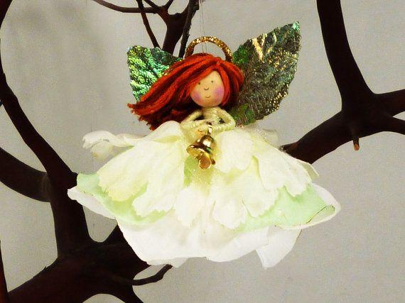 Christmas Angel Ornament Doll Holiday Fairy Angel by petalbelles, $28.49