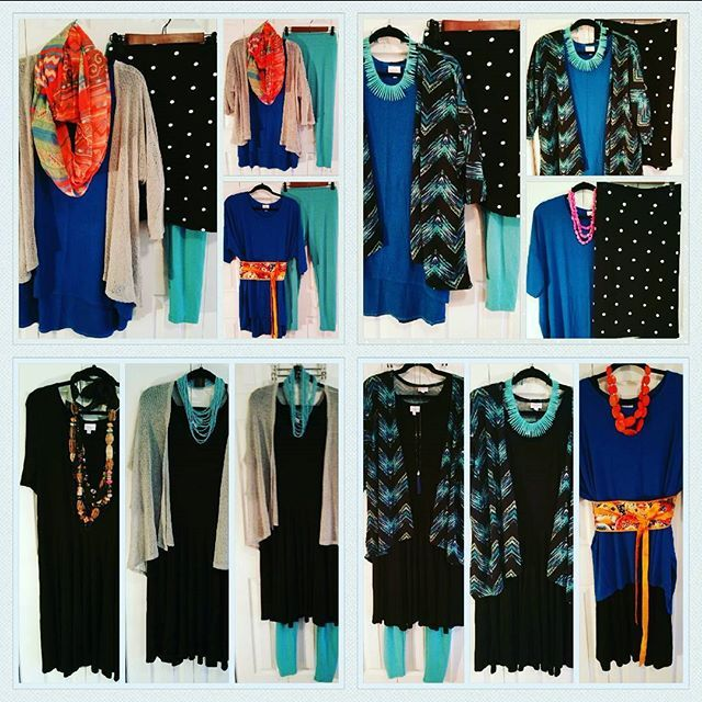 LuLaRoe-To/Go-To 6 piece collection. Beautiful blues and classic black &…