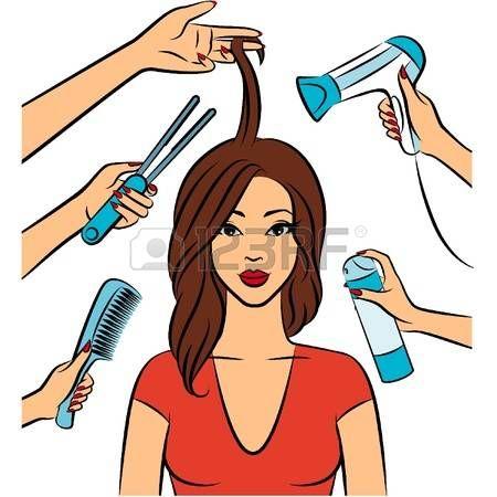 beauty cartoon salon hairdresser tools hair salons hairdressers