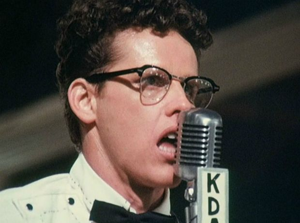 "Gary Busey as Buddy Holly in ""The Buddy Holly Story"" (1978). #film #music #acting"