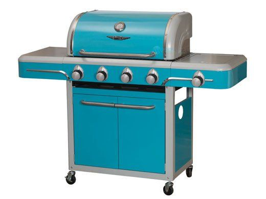 Pool Supply Unlimited has some of the best prices when shopping for Bullet Bel Air 4 Burner Vintage Grill Cart by Bull Outdoor Products | Blue | 79006
