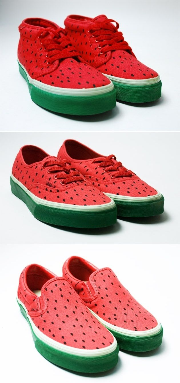 Cool Looking Watermelon Vans Shoes Pinterest